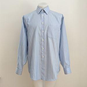 ALFRED SUNG Non-Iron Dress Shirt, Blue, 16.5